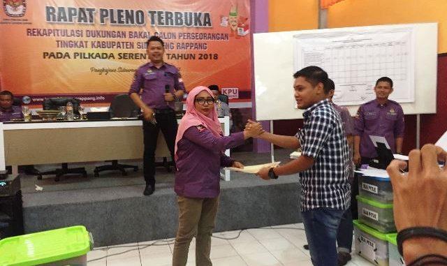 rapat pleno rekapitulasi KPUD Sidrap