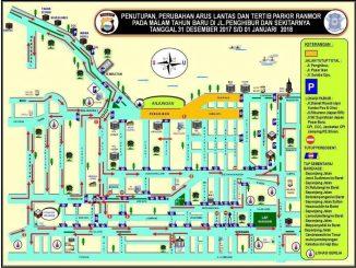 Untuk rekayasa lalu lintas Polda Sulsel juga akan melakukan penutupan di sejumlah ruas jalan di sekitar Pantai Losari. Beberapa di antaranya adalah jalan Jenderal Sudirman, Jalan Kartini dan Jalan Haji Bau.