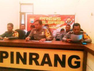 Kasus narkotika sangat memprihatinkan di wilayah hukum Polres Pinrang selama 2017.