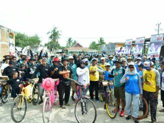 Ratusan 'Passapeda Onthel' Datangi Kediaman Hj Fatmawati