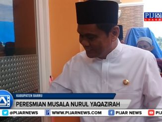 Bupati Barru Suardi Saleh meresmikan penggunaan Musala Nurul Yaqazirah di Desa Lawallu, Kecamatan Soppeng Riaja, Kabupaten Barru.