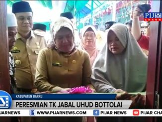 Peresmian gedung baru sekolah taman kanak-kanak milik Yayasan Jabal Uhud Bottolai, Kelurahan Coppo, Kabupaten Barru, Sulawesi Selatan, belum lama ini.