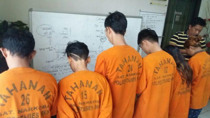 Sat Res narkoba Polrestabes Makassar