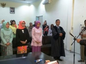 empat Pejabat Pembuat Akta Tanah (PPAT) yang baru, di Kantor BPN Parepare Jalan Jenderal Sudirman