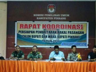 Rapat koordinasi KPUD Pinrang (Gambar: Pijarnews.com)