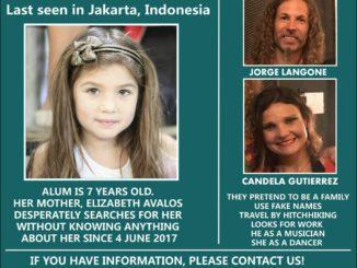 Poster Alum, bocah Argentina yang diduga hilang di Indonesia (foto: Istimewa).