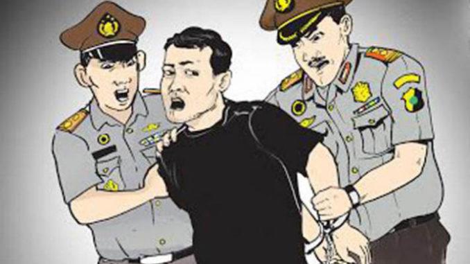 ilustrasi pencuri ditangkap
