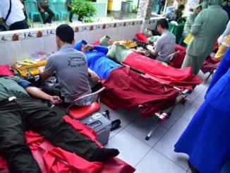 Aksi Donor Darah Oleh TNI