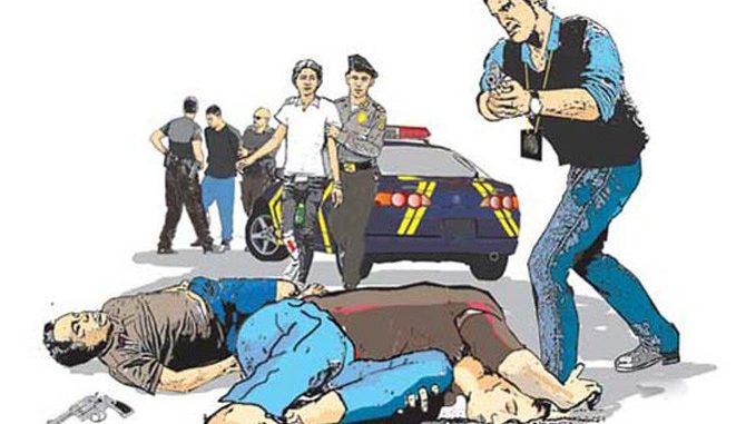Perampok ditembak Polisi