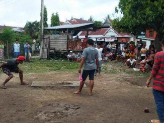 Warga bulisu melakukan olahraga tradisional magasing
