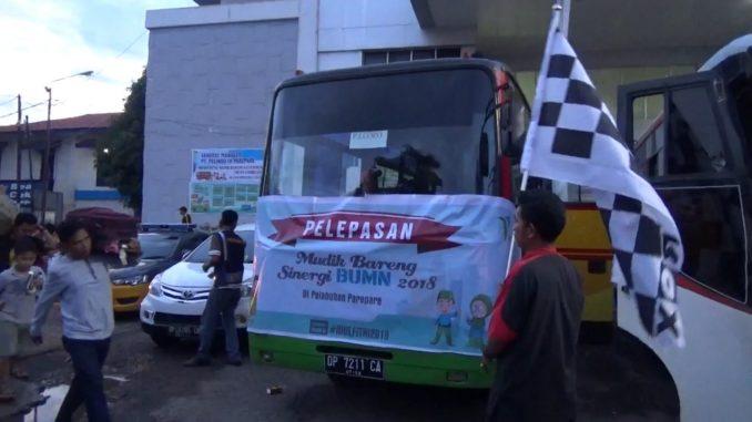 Bus mudik gratis Pelindo Cabang Parepare.