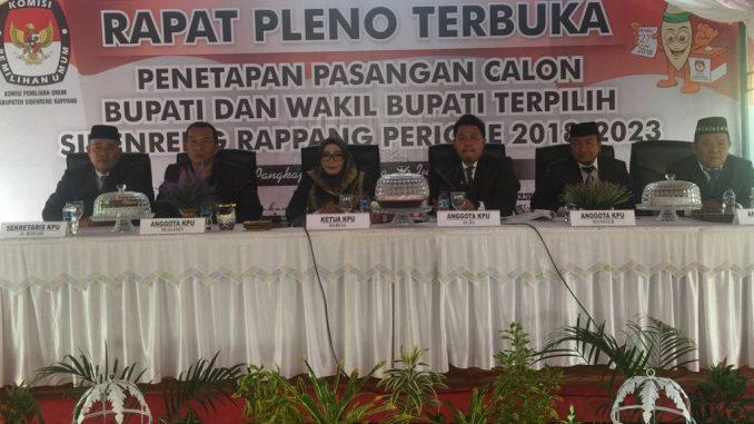 KPU Tetapkan Dollah Mando-Mahmud Yusuf Sebagai Bupati dan Wakil Bupati Terpilih Sidrap