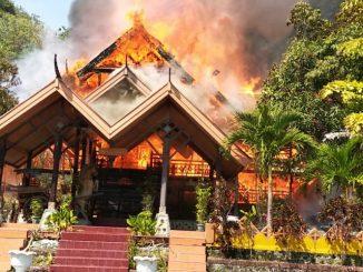 Rumah pribadi mantan walikota Parepare Basrah Hafid terbakar.