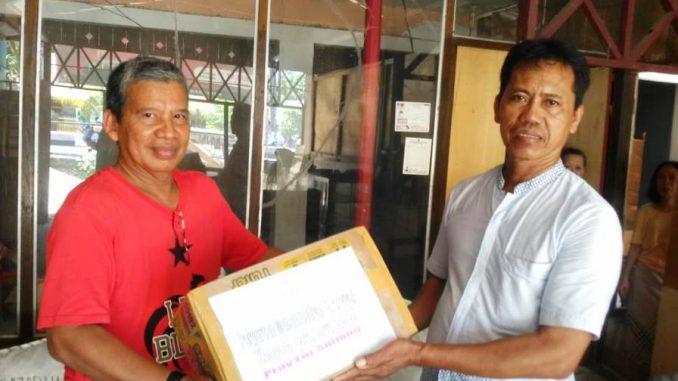 PCM Kampung Baru Serahkan Bantuan Bencana Sulteng ke Lazismu