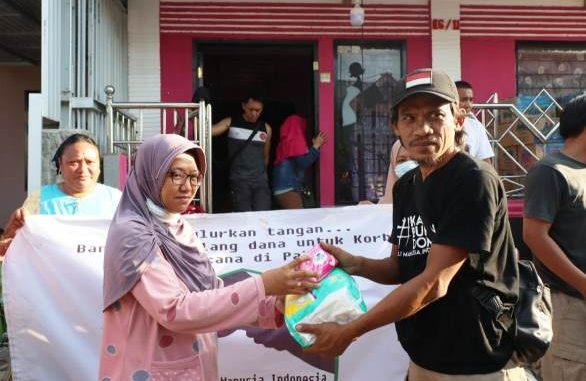 Yayasan Manusia Indonesia Sisir Kota Palu Salurkan Bantuan