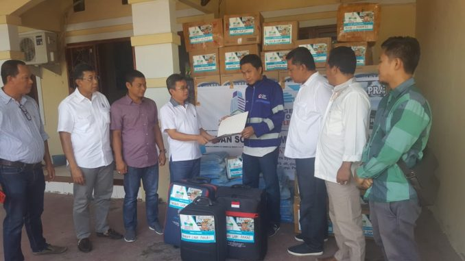 PI Sulsel Salurkan Logistik Gempa lewat PMI