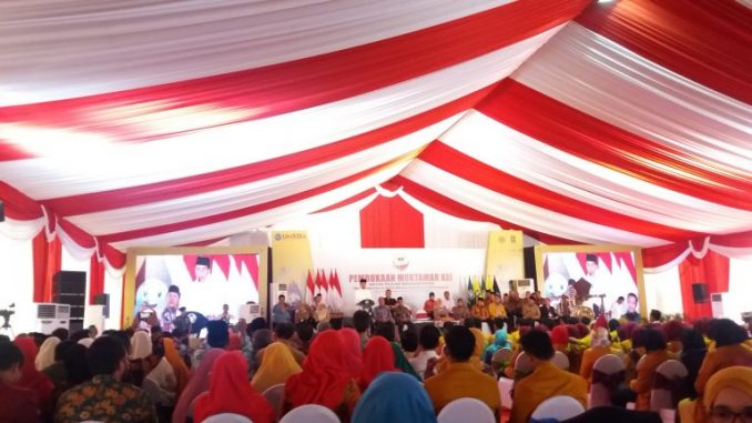 Presiden RI Joko Widodo menghadri Muktamar IPM di Sidoarjo, Senin 19 November 2018.