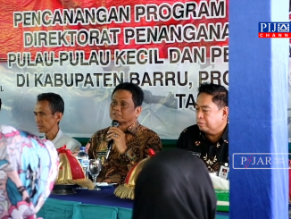 Bupati Barru Suardi Saleh, sambutan dikegiatan bantuan sosial pangan dari Kementerian Sosial.