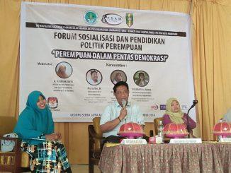 Forum Sosialisasi & Pendidikan Politik Perempuan di Gedung Aisyiyah, Kota Parepare, Ahad 9 Desember 2018