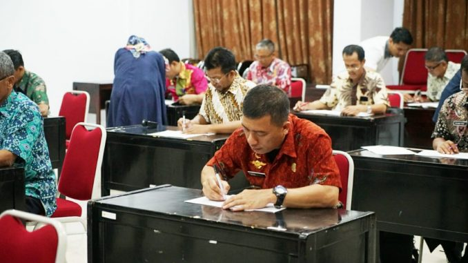 ASN Pemkab Sidrap mengikuti seleksi jabatan di LAN Makassar.