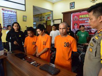 Polisi bekuk tiga pelaku curanmor dan curnik di Sidrap.