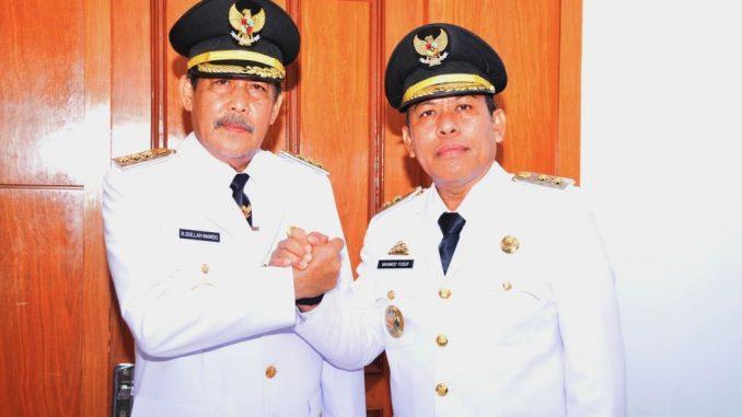 Bupati Sidrap, H Dollah Mando dan Wakil Bupati Sidrap, H Mahmud Yusuf
