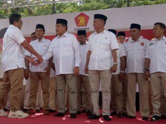 Prosesi pelantikan H Dollah Mando menjadi Ketua Partai Gerindra Sidrap.