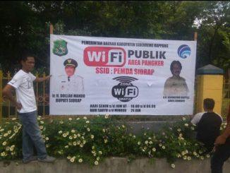Wifi Gratis yang disiapkan DinasKominfo Sidrap di area Car Free Day.