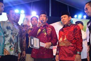 Bupati Sidrap, H Dollah Mando didampingi Wakil Bupati Sidrap H Mahmud Yusuf.