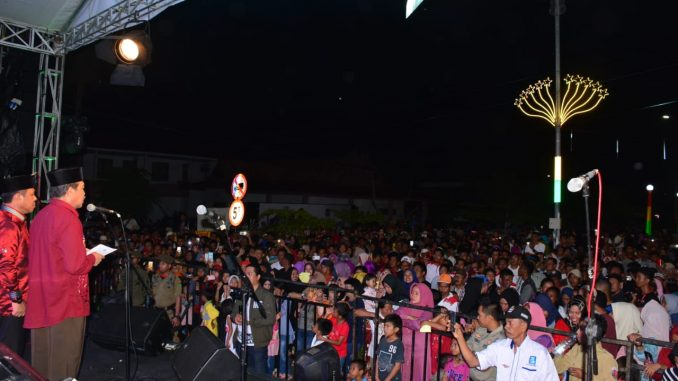 Suasana saat pesta rakyat di Sidrap.