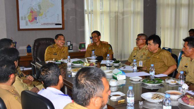 Wakil Bupati Sidrap H Yusuf Mahmud memimpin cofee morning dengan Kepala SKPD.