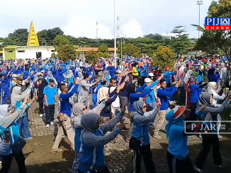 Keseruan Senam Germas Kabupaten Barru.