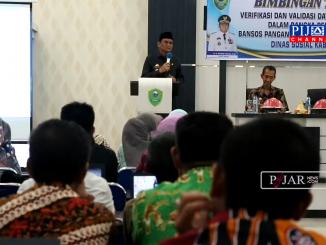 Bupati Barru Suardi Saleh beri sambutan depan seluruh peserta Bimtek.