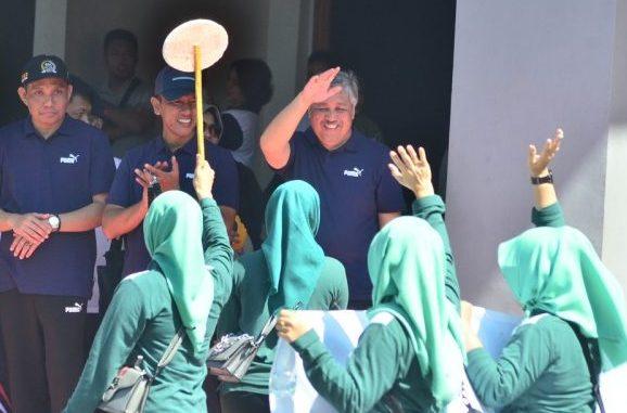 Bupati Pinrang Andi Irwan Hamid membuka Porseni HUT Kabupaten Pinrang ke-60