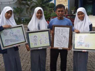 SMK 9 Pinrang Ikut Lomba Karikatur Tingkat Sulsel, Optimis Raih Juara