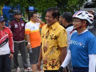 bupati soppeng Andi Kaswadi Razak sambut Komunitas Sepeda