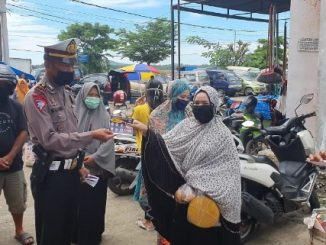 Hadang Corona, Satlantas Polres Pinrang Gelar Operasi