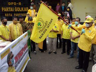 Golkar Parepare Salurkan Bantuan Ringankan Beban Warga di Tengah Pandemi