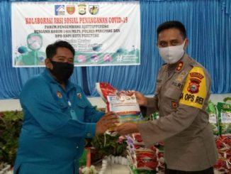 KNPI Parepare dan FPA Libatkan TNI-Polri Salurkan 300 Paket Sembako ke Warga