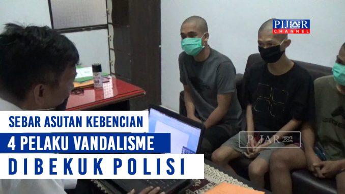 Empat Pelaku Vandalisme di Pinrang