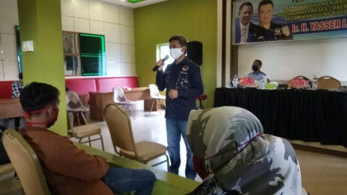 Warga Curhat ke Yasser Latief Soal Belum Meratanya Bansos Dampak Corona