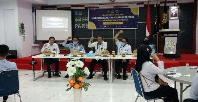 Sukses Raih WBK, Rudenim Makassar dan Lapas Parepare Studi Tiru ke Imigrasi Parepare