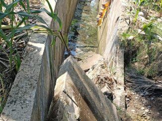 Sebagian Dinding Proyek Irigasi Rp1,1 Miliar Roboh di Desa Buttu Batu Enrekang