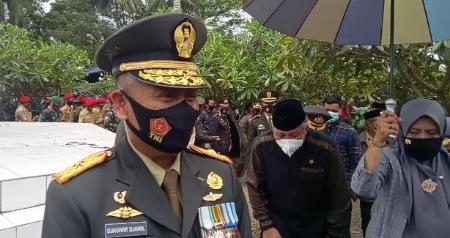 Komandan Korem 141 Toddopuli Brigadir Jenderal TNI Djashar Djamil,