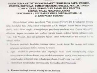 Zona Merah Covid, Pemkab Pinrang Bakal Batasi Aktivitas Warga