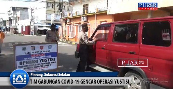 Video : Tim Gabungan Covid-19 Pinrang Gencar Operasi Yustisi