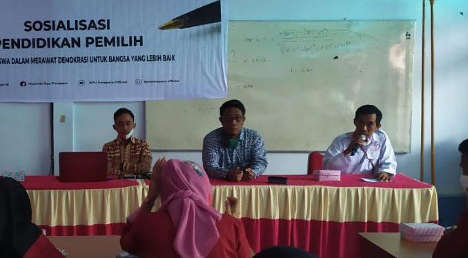 Sosialisasi Pendidikan Pemilih, KPU Parepare Ajak Pemilih Muda Fahami Demokrasi