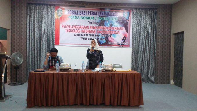Legislator Golkar Parepare ini Edukasi Warga Keterbukaan Informasi pada Sosialisasi Perda Pemerintahan Berbasis TIK