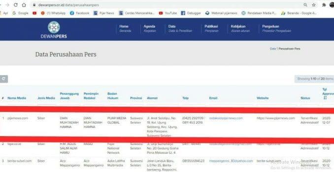 Pijarnews.com, Media Siber Pertama di Ajatappareng Terverifikasi Administrasi Dewan Pers