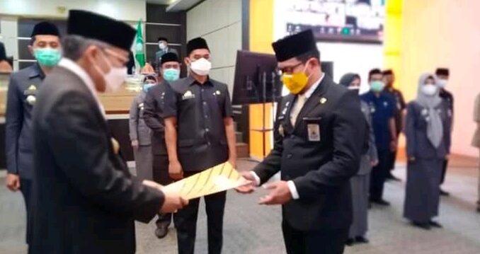 Taufan Pawe Tunjuk Amarun Agung Hamka Jadi Plt Kadis Kominfo Parepare